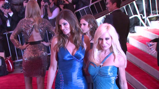 Cindy Crawford and Donatella Versace at the 'The Model as Muse Embodying Fashion' Costume Institute Gala at The Metropolitan Museum of Art Arrivals...