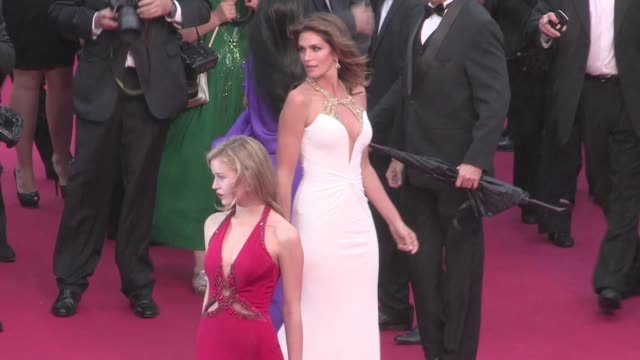 Cindy Crawford and Georgia May Jaeger on the red carpet of The 2013 Cannes Film Festival opening ceremony