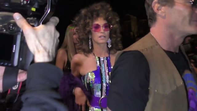 cindy crawford and rande gerber outside the 2019 casamigos halloween party in beverly hills at celebrity sightings in los angeles on october 25, 2019... - cindy crawford stock videos & royalty-free footage