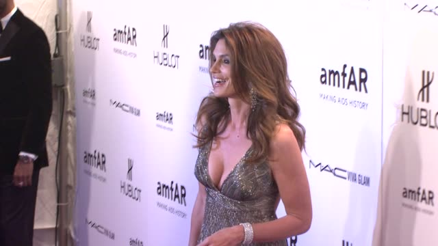 cindy crawford at amfar new york gala to kick off fall 2012 fashion week on in new york - cindy crawford stock videos & royalty-free footage