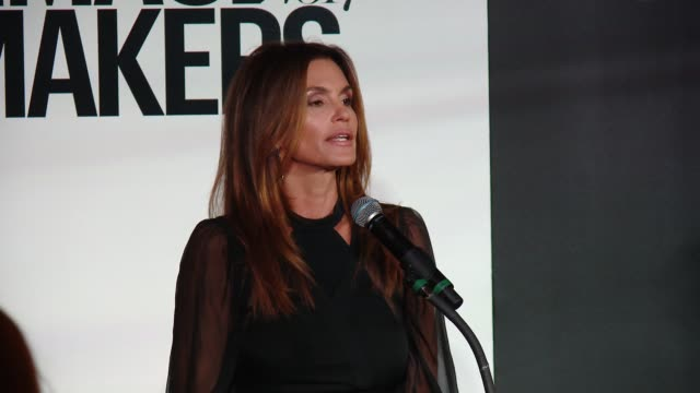 SPEECH Cindy Crawford at Marie Claire's Image Maker Awards in Los Angeles CA