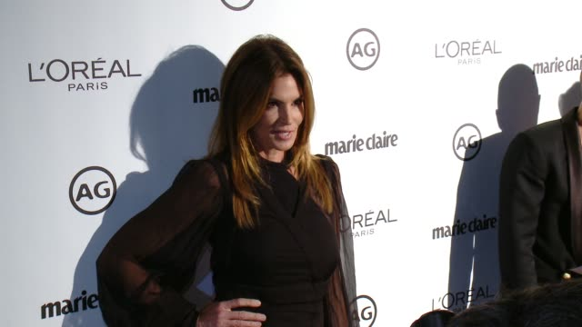 cindy crawford at marie claire's image maker awards in los angeles, ca 1/10/17 - cindy crawford stock videos & royalty-free footage