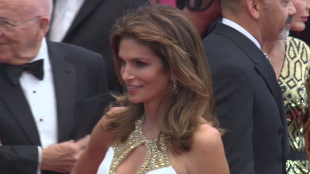 cindy crawford at opening ceremony - 'the great gatsby' premiere cindy crawford at opening ceremony - 'the great at palais des festivals on may 15,... - cindy crawford stock videos & royalty-free footage