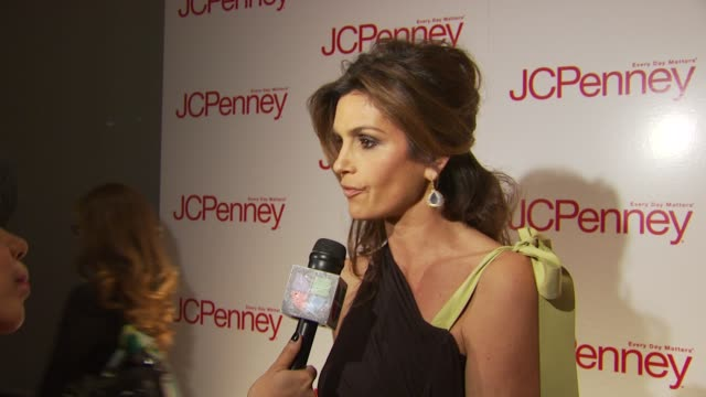 Cindy Crawford at the JCPenney Discover Spring Style Event Arrivals and Runway at New York NY