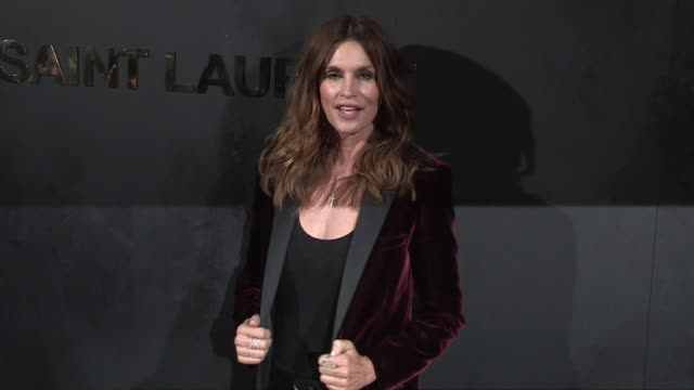 cindy crawford at the photocall for the st laurent rtw spring summer 2020 in paris paris, france on tuesday september 24, 2019 - saint laurent stock videos & royalty-free footage