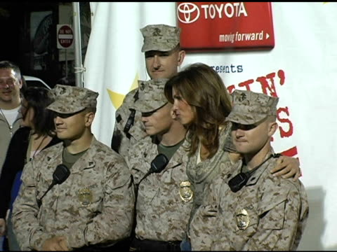 cindy crawford at the rockin' the corp an american thank you celebration concert for us marines at camp pendelton marine base in oceanside california... - oceanside stock videos and b-roll footage