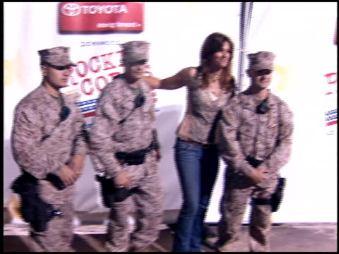 Cindy Crawford at the Rockin' the Corps Concert at Camp Pendleton in San Diego California on April 1 2005