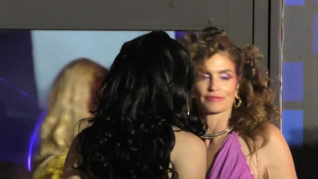 cindy crawford at the tequila casamigos halloween bash at tower records in west hollywood at celebrity sightings in los angeles on october 27, 2017... - tower records stock videos & royalty-free footage