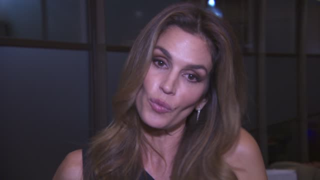 INTERVIEW Cindy Crawford on her book the secret to happiness and George Clooney at Casamigos Tequila and Cindy Crawford book launch party at The...