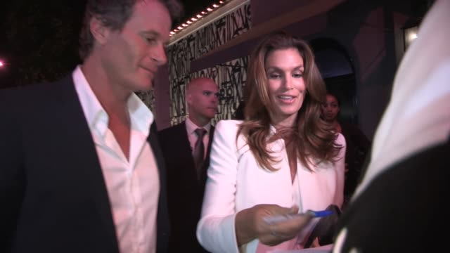 Cindy Crawford Rande Gerber at Craig Susser's Birthday Party at Craigs in West Hollywood in Celebrity Sightings in Los Angeles