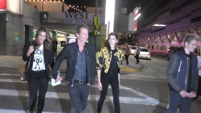 cindy crawford, rande gerber & kaia gerber outside live in los angeles in celebrity sightings in los angeles, - cindy crawford stock videos & royalty-free footage