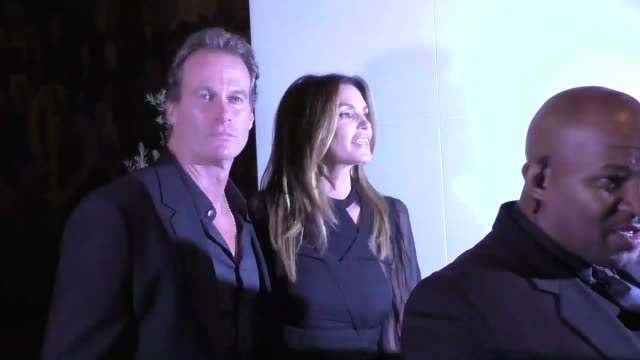 cindy crawford & rande gerber outside catch restaurant in west hollywood in celebrity sightings in los angeles, - cindy crawford stock videos & royalty-free footage
