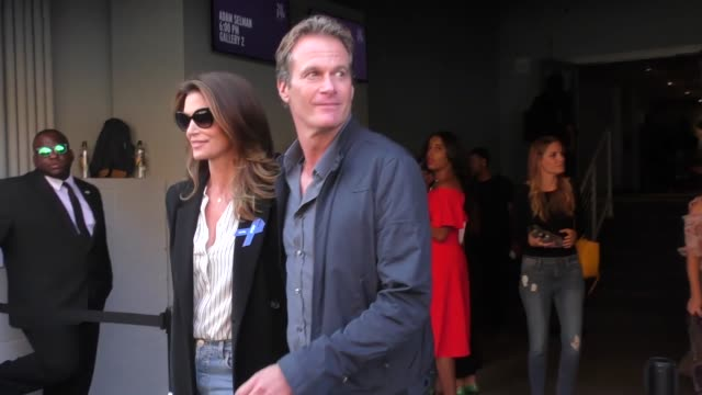 Cindy Crawford Rande Gerber outside the Brock Collection at Gallery 2 in New York in Celebrity Sightings in Los Angeles