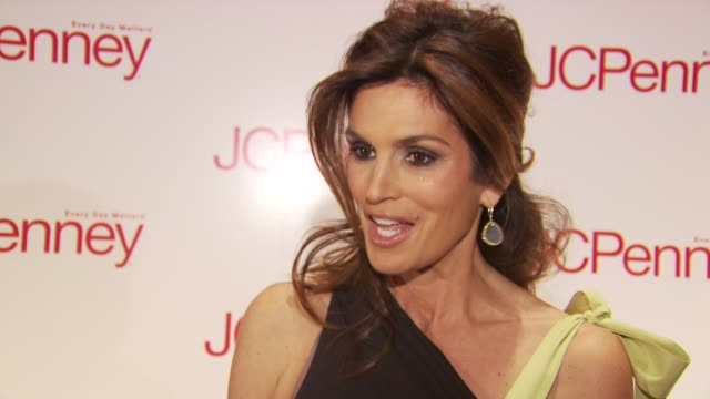 Cindy Crawford talks about teaming up with JcPenney to do her line at the JCPenney Discover Spring Style Event Arrivals and Runway at New York NY