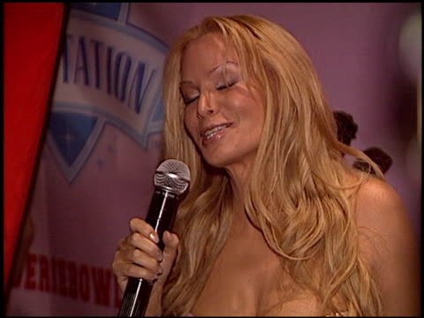 cindy margolis at the lingerie bowl party at cabana club in hollywood california on september 14 2005 - lingerie stock videos & royalty-free footage