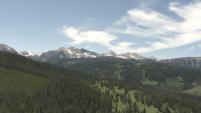 cineflex clouds over mountains_01 - push in stock videos & royalty-free footage