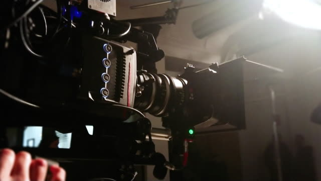 cinema camera shooting - film crew stock videos & royalty-free footage