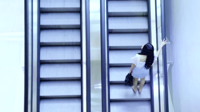 cinemagraph : asian women standing on the escalator - escalator stock videos & royalty-free footage