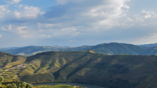 Cinemagraph of Douro valley at sunset