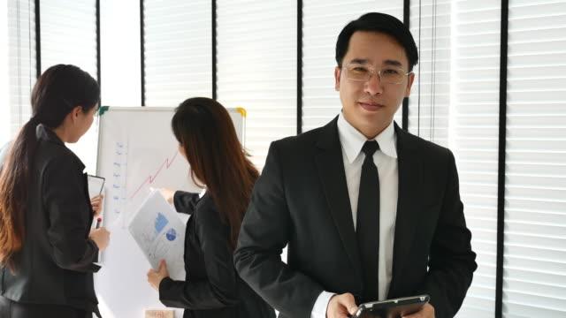 Cinemagraph of Portrait Asian Businessman