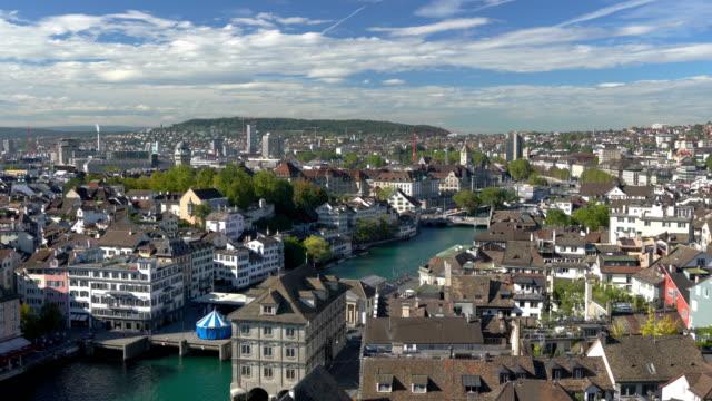 Cinemagraph of Zurich Switzerland landscape