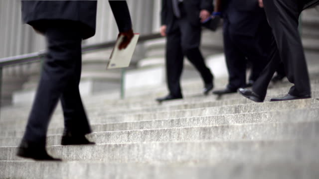 CINEMAGRAPH-New York Men Down Business Stairs