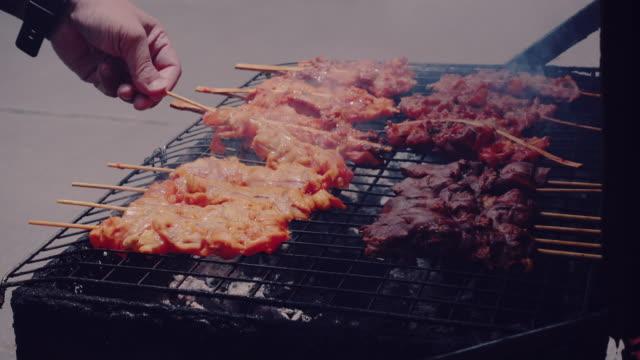 vídeos y material grabado en eventos de stock de cinemagraphs: cocinar barbacoa - palo parte de planta