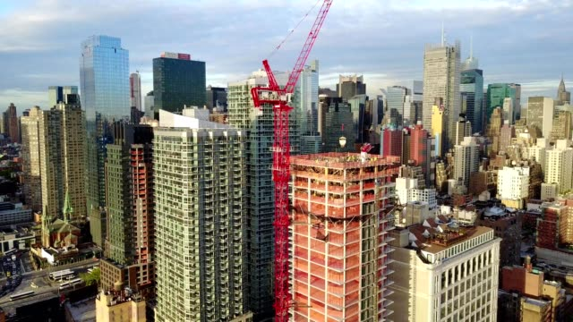 Cinematic Aerial Views of New Construction on NYC's West Side
