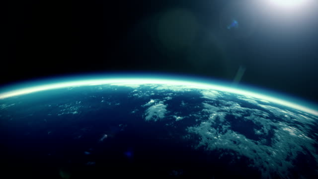 cinematic animation from sunrise to earth - space exploration stock videos & royalty-free footage