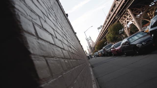 cinematic dolly shot of NYC's Queensboro Bridge - 4k