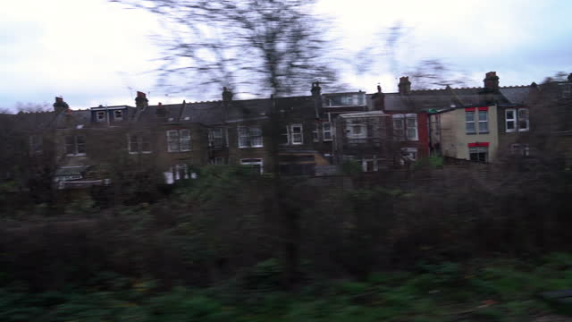 cinematic london scenery from train window - cinematography stock videos & royalty-free footage