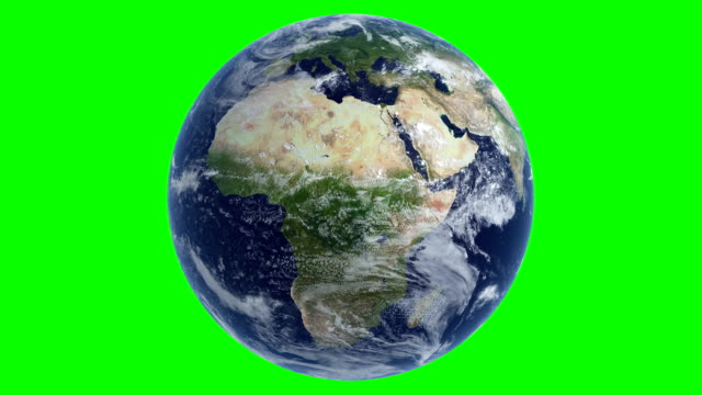 cinematic realistic rotating earth cloud green color - globe stock videos & royalty-free footage
