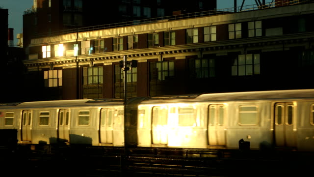 cinematic subway train new york city - facade stock videos & royalty-free footage