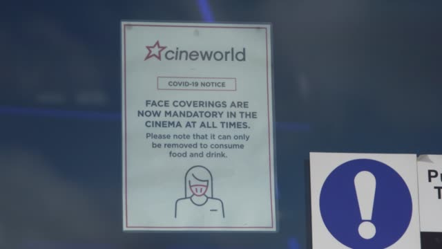 cineworld closes all uk and us cinemas on october 06, 2020 in london, england. the movie theatre chain confirmed closure of 127 cinemas in the united... - 映画館点の映像素材/bロール