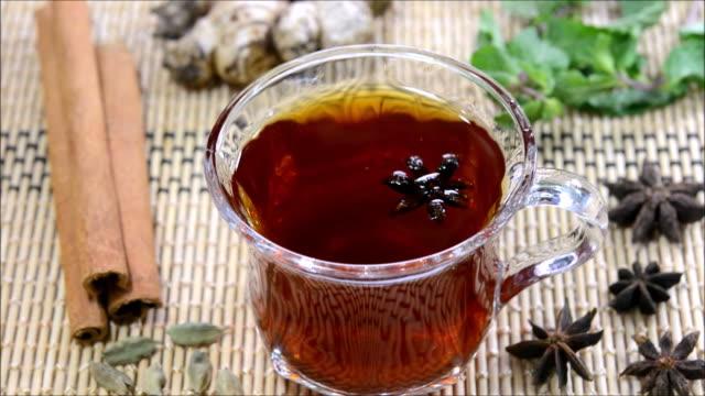 cinnamon black tea - black tea stock videos and b-roll footage