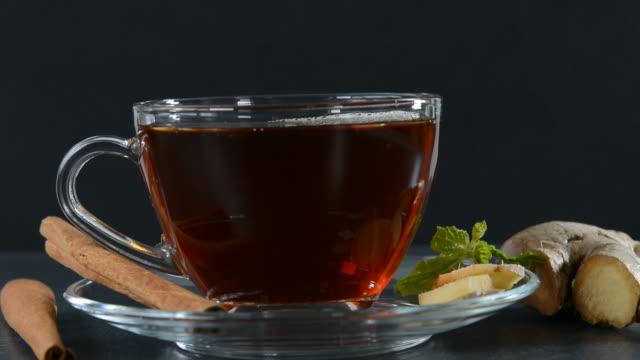 cinnamon ginger tea - cinnamon stock videos & royalty-free footage