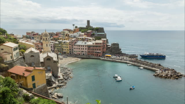 cinque terre view time-lapse - mar stock videos & royalty-free footage
