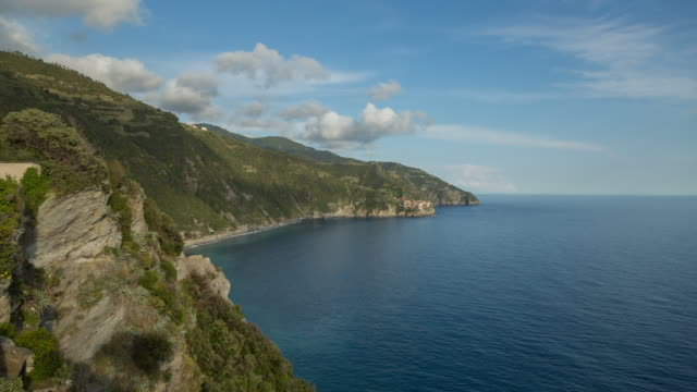 stockvideo's en b-roll-footage met cinque terre view time-lapse - mar