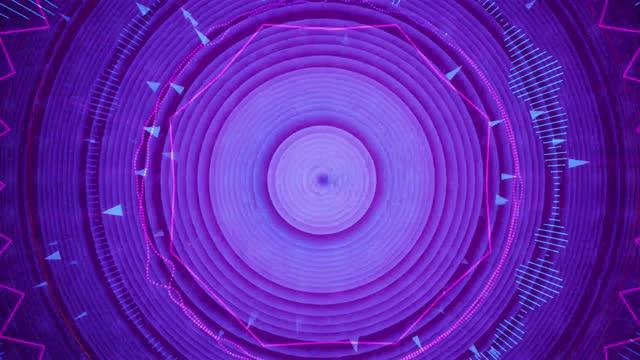 vídeos y material grabado en eventos de stock de circle audio wave - imagen virada
