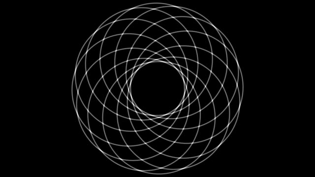 "vídeos de stock e filmes b-roll de ""circle geometry, abstract animation"" - design"