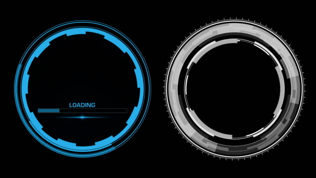 HUD Circle Interface Data Screen. Two Radial Elements