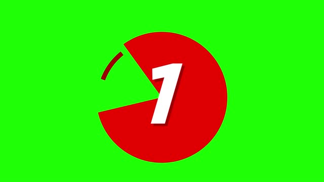 4k circle markers with number set with pie chart. modern bullet points on green screen - number 4 stock videos & royalty-free footage
