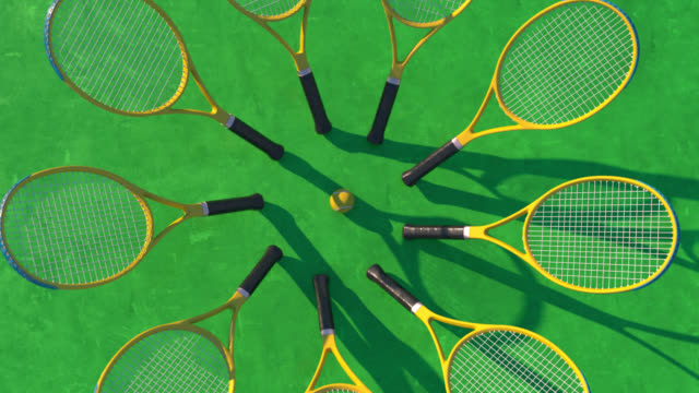 circle of rackets - tennis racket stock videos & royalty-free footage