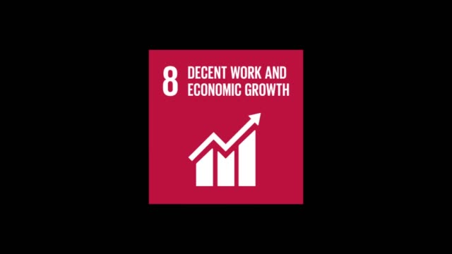 circle with box decent work and economic growth - climate finance stock videos & royalty-free footage