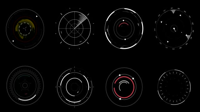 hud circles 1 - bar graph stock videos & royalty-free footage
