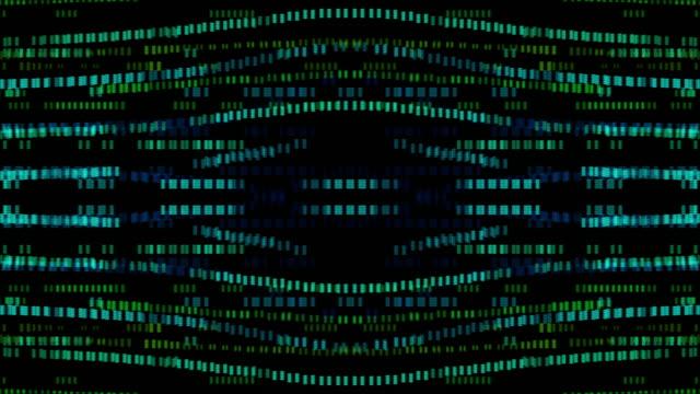4kサークルと正方形の輝くデジタル背景ループ可能な、アニメーション要素の概念 - デジタル合成点の映像素材/bロール