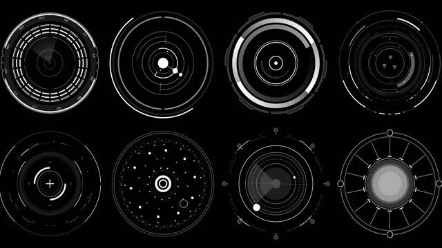 hud cirklar b - militärmål bildbanksvideor och videomaterial från bakom kulisserna