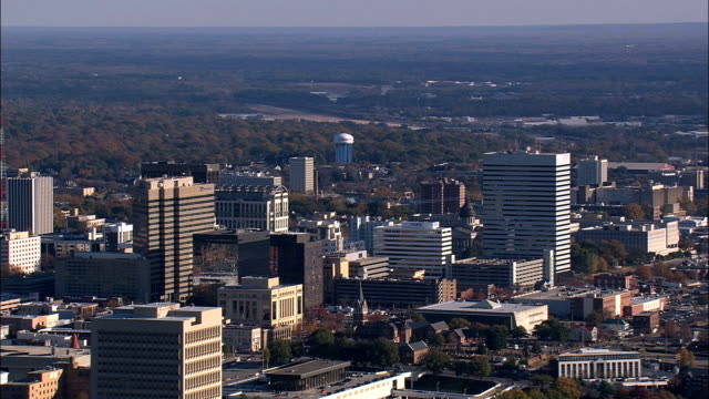 circling columbia  - aerial view - south carolina,  richland county,  united states - south carolina stock videos & royalty-free footage