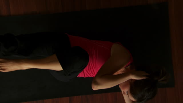 circling overhead view of a woman doing yoga - see other clips from this shoot 1149 stock videos & royalty-free footage