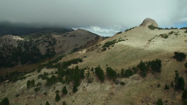 Circling Pilot Pinnacle towards Bumpass Mountain in Lassen Volcanic National Park, California.